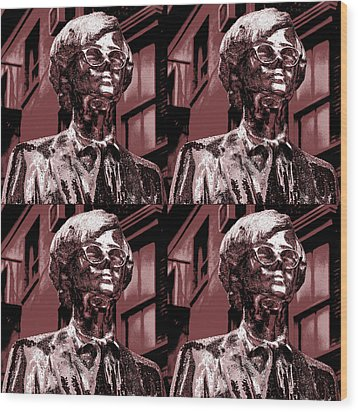 Andy Warhol Statue Union Square Nyc  Wood Print by Robert Ullmann