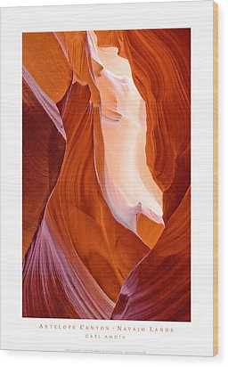 Antelope Canyon Wood Print by Carl Amoth