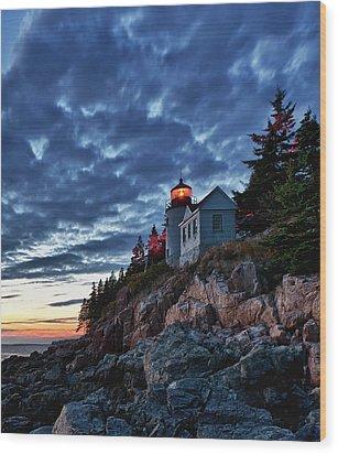 Bass Harbor Lighthouse Wood Print by John Greim