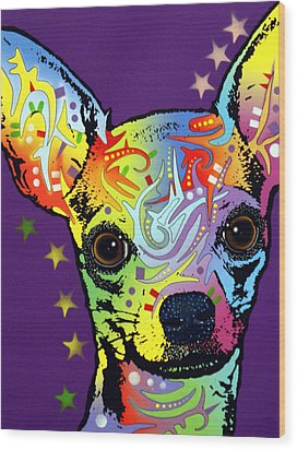 Chihuahua Wood Print by Dean Russo