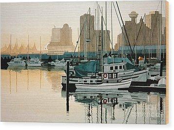 Coal Harbour Wood Print