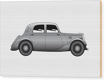 Wood Print featuring the digital art Coupe - Vintage Model Of Car by Michal Boubin