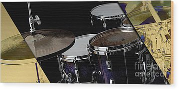 Drums Collection Wood Print