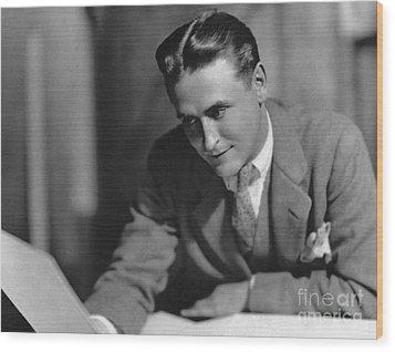 F. Scott Fitzgerald Wood Print by Granger
