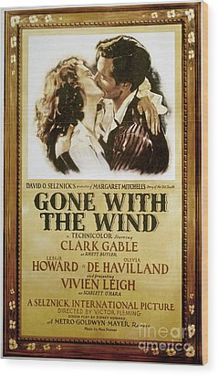 Gone With The Wind, 1939 Wood Print by Granger