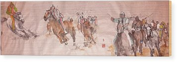 Il Palio Unrolled Wood Print