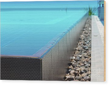 Wood Print featuring the photograph Infinity Pool by Atiketta Sangasaeng
