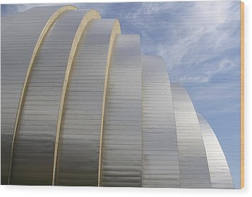 Kauffman Center For Performing Arts Wood Print by Mike McGlothlen