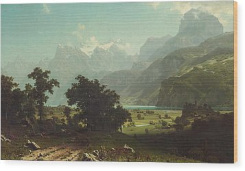 Lake Lucerne Wood Print