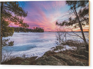 Wood Print featuring the photograph Lake Winnipesaukee by Robert Clifford