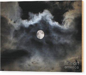 Lisas Wildlife Moons 2 Wood Print