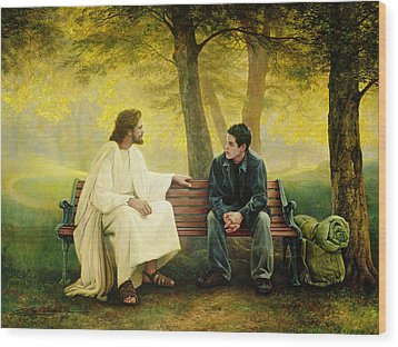 Wood Print featuring the painting Lost And Found by Greg Olsen
