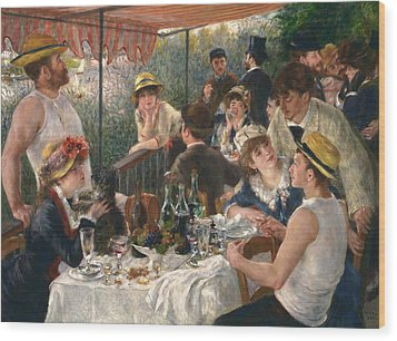 Luncheon Of The Boating Party Wood Print