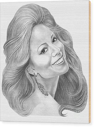 Mariah Carey  Wood Print by Murphy Elliott