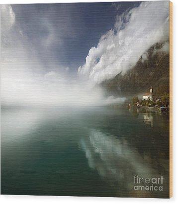 Misty Morning Wood Print by Angel Ciesniarska