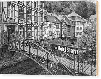 Monschau In Germany Wood Print
