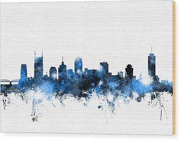 Nashville Tennessee Skyline Wood Print by Michael Tompsett