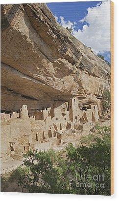 Native American Cliff Dwellings Wood Print by Bryan Mullennix