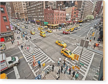 New York City Wood Print by Luciano Mortula