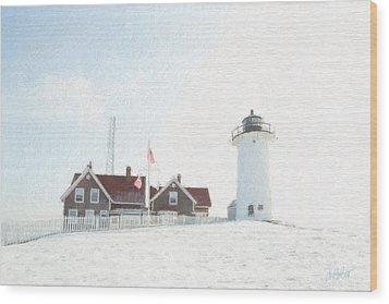 Nobska Light House Wood Print by Michael Petrizzo