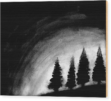 4 Pines Wood Print by Salman Ravish