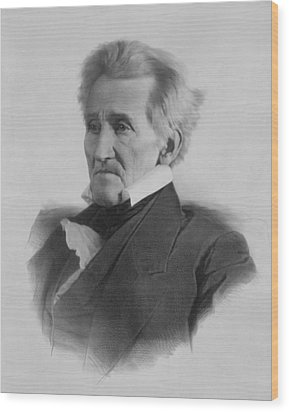 President Andrew Jackson  Wood Print by War Is Hell Store