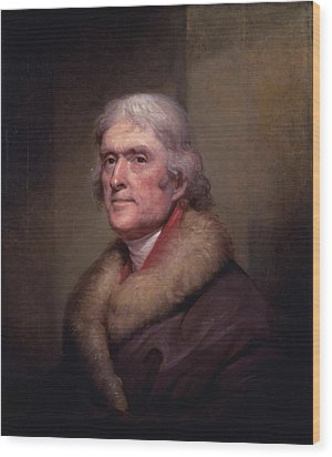 President Thomas Jefferson Wood Print