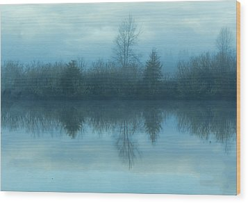 Reflections Wood Print by Cathy Anderson