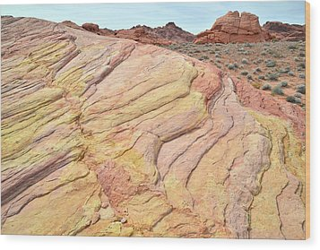 Wood Print featuring the photograph Ripples Of Color In Valley Of Fire by Ray Mathis