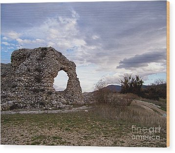 Wood Print featuring the photograph Roman Ruins by Judy Kirouac