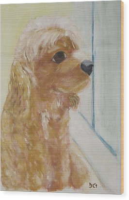 Rusty Aka Digger Dog Wood Print by Patricia Cleasby
