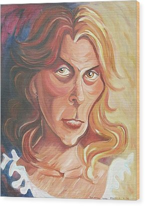 Self Portrait Wood Print by Suzanne  Marie Leclair