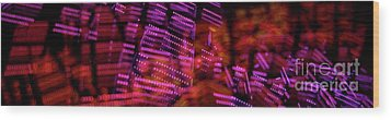 Singapore Night Urban City Light - Series - Your Singapore Wood Print
