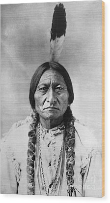 Sitting Bull (1834-1890) Wood Print by Granger