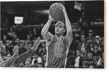 Steph Curry Collection Wood Print