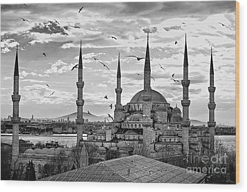The Blue Mosque - Istanbul Wood Print by Luciano Mortula