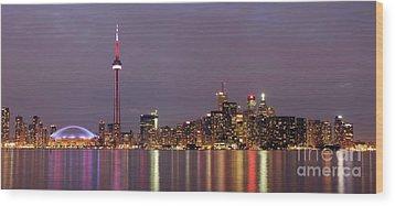 The City Of Toronto Wood Print by Oleksiy Maksymenko