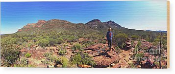 Wood Print featuring the photograph Wilpena Pound by Bill Robinson