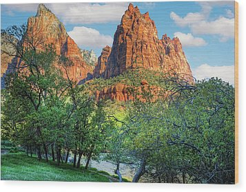 Zion National Park Wood Print by Utah Images