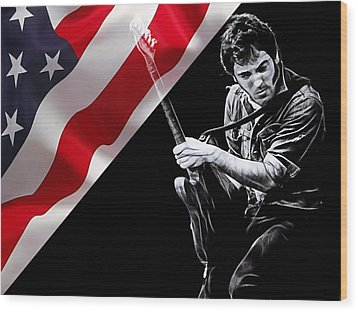 Bruce Springsteen Collection Wood Print