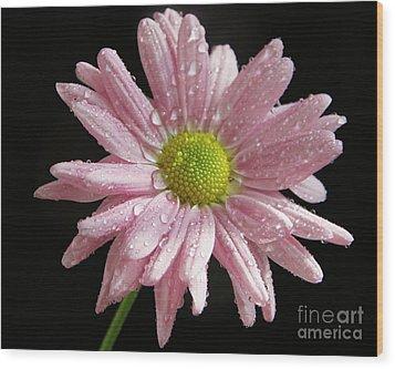 Pink Flower Wood Print by Elvira Ladocki