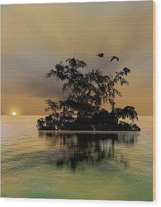 Wood Print featuring the photograph 4374 by Peter Holme III