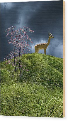 Wood Print featuring the photograph 4388 by Peter Holme III
