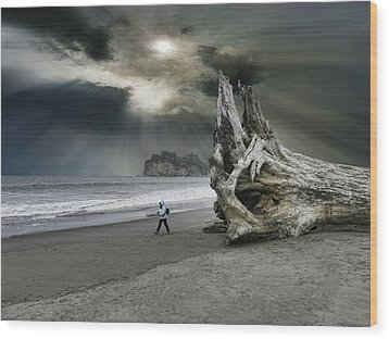 Wood Print featuring the photograph 4392 by Peter Holme III