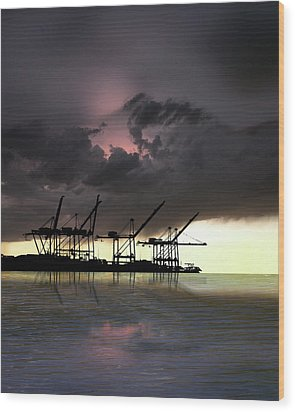 Wood Print featuring the photograph 4396 by Peter Holme III