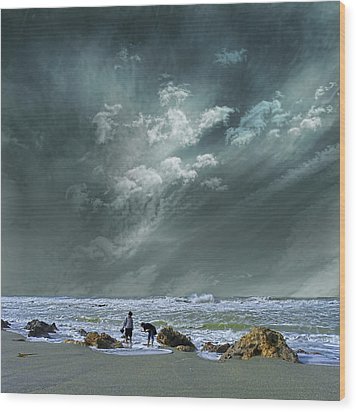 Wood Print featuring the photograph 4399 by Peter Holme III