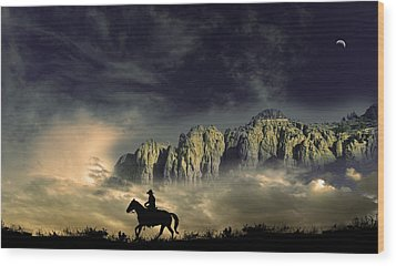 Wood Print featuring the photograph 4403 by Peter Holme III