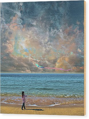 Wood Print featuring the photograph 4410 by Peter Holme III