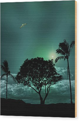 Wood Print featuring the photograph 4420 by Peter Holme III