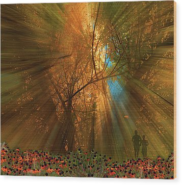 Wood Print featuring the photograph 4478 by Peter Holme III